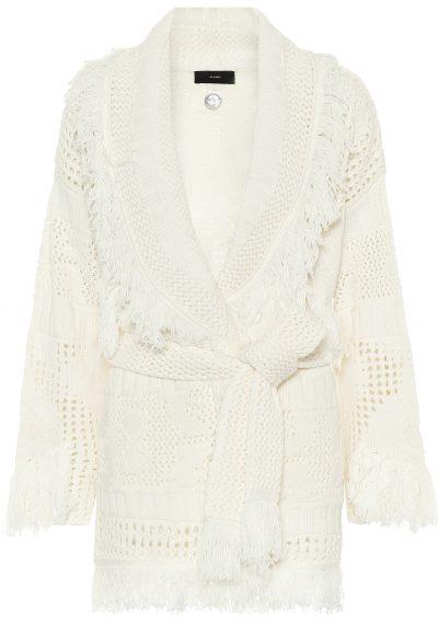 White Icon Wool Cardigan