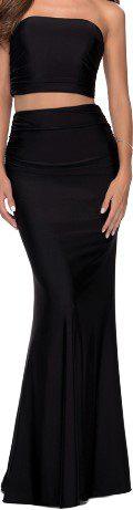 28703 Two Piece Jersey Prom Dress-La Femme