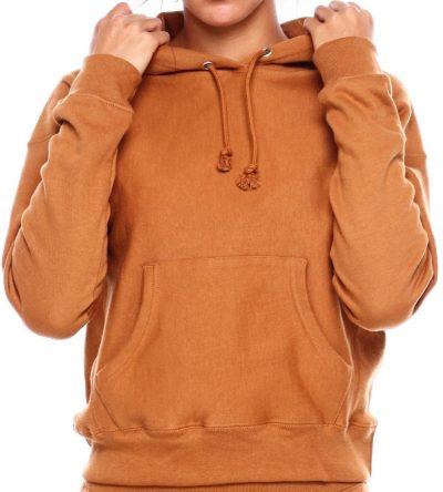 Brown Reverse Weave C Logo Pullover Hood-Champion