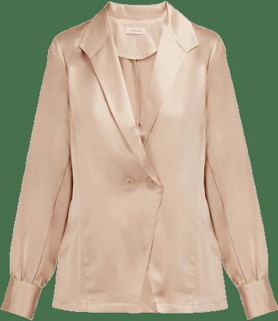 Dusty Pink Isabella Silk-Satin Top
