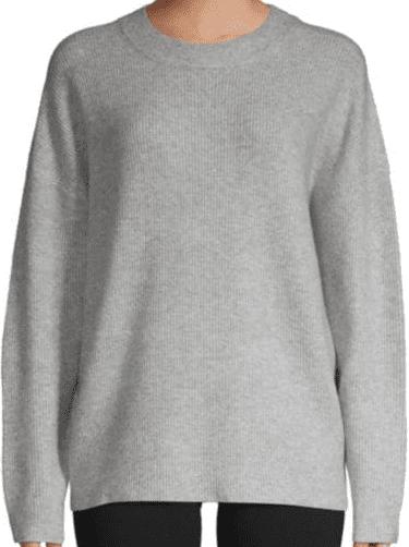 Grey Mist Oversized Crewneck Sweater-Saks Fifth Avenue