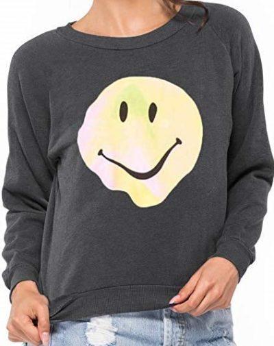 Grey Psychedelic Smiley Sweatshirt
