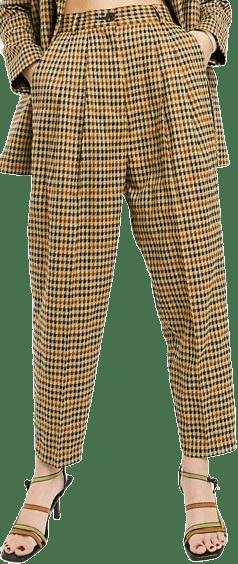 Sharktooth Tapered Dad Suit Pants-Asos Design