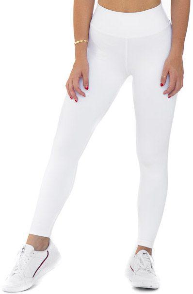 White High Waist Leggings