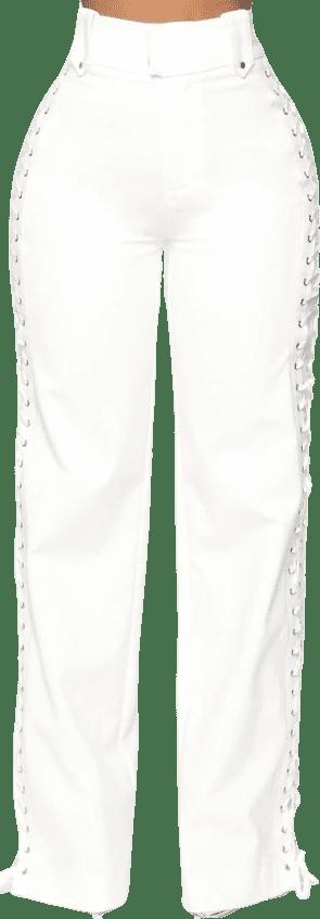 White Lace by Lace Pants - Fashion Nova