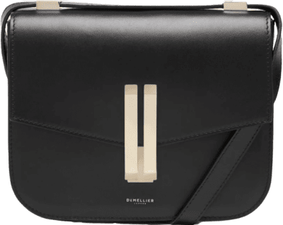 Black Smooth The Vancouver Leather Bag-DeMellier