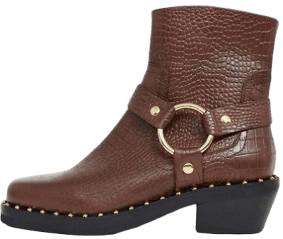 Brown_Croc_Leather_Studded_Western_Boots