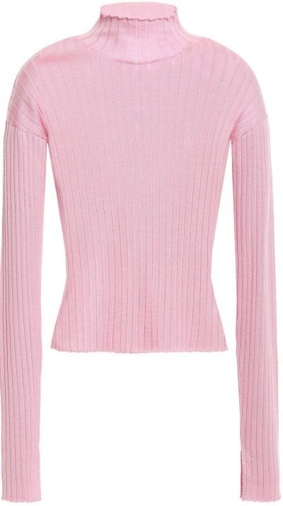 Ribbed Cashmere and Silk-blend Turtleneck Sweater-N.Peal