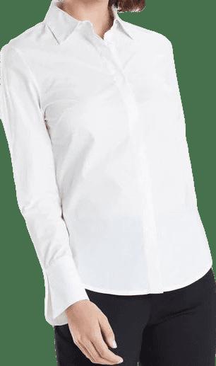 White Cotton Poplin Shirt-Natori