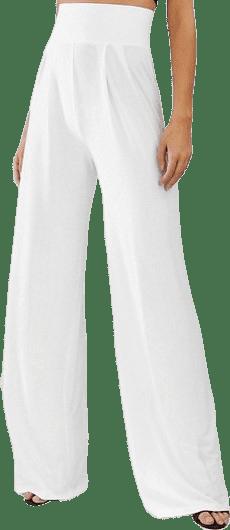 White Tall Wide Leg Pants-Asos Design