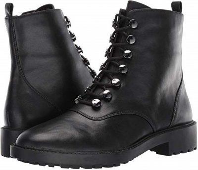 Black Leather Trinity Boots-LINEA Paolo