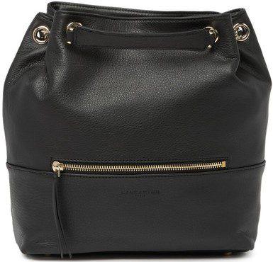 Black Mademoiselle Estelly Leather Backpack-Lancaster Paris