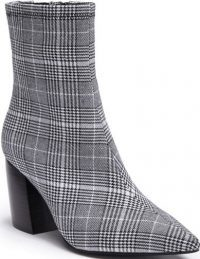 Plaid Sport Pointed Toe Bootie-Jeffrey Campbell