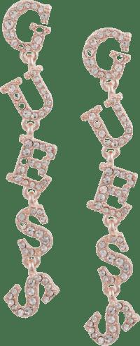 Rose-Gold-Tone-Pavé-Logo-Linear-Drop-Earrings
