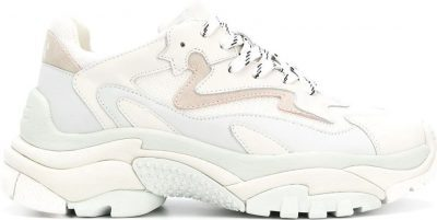 White Ridged Sole Sneakers
