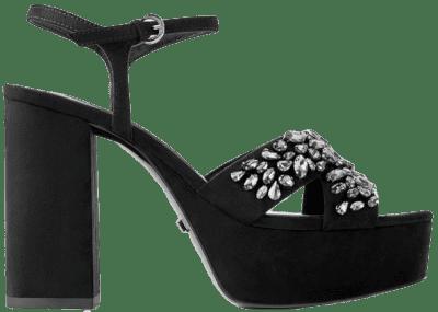 Bejeweled High Heeled Platform Sandals-Zara