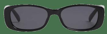 Black Rectangle-Frame Sunglasses