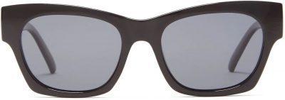 Black Rocky Square Acetate Sunglasses