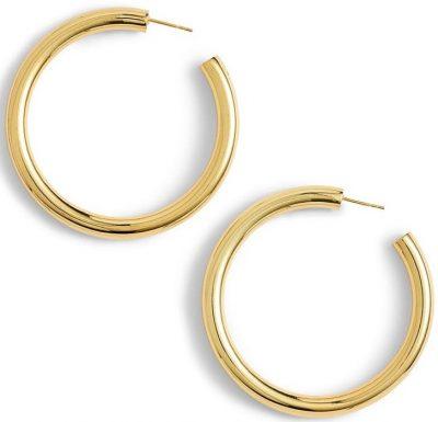 Gold Hollow Hoop Earings