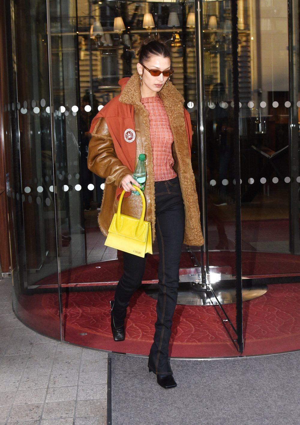 Bella Hadid seen leaving her hotel in Paris