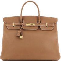 Brown Birkin Handbag Gold Courchevel with Gold Hardware-Hermess-9765