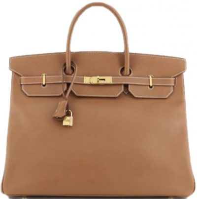 Brown Birkin Handbag Gold Courchevel with Gold Hardware-Hermess-9765