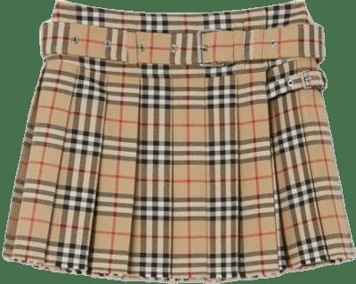 Archive Beige Vintage Check Wool Twill Kilt-Burberry