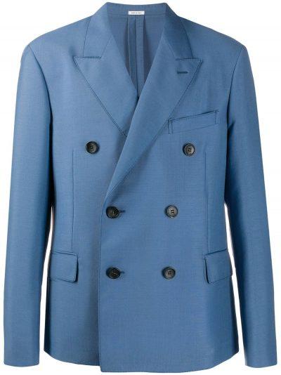 Blue Oversized Double Breasted Blazer