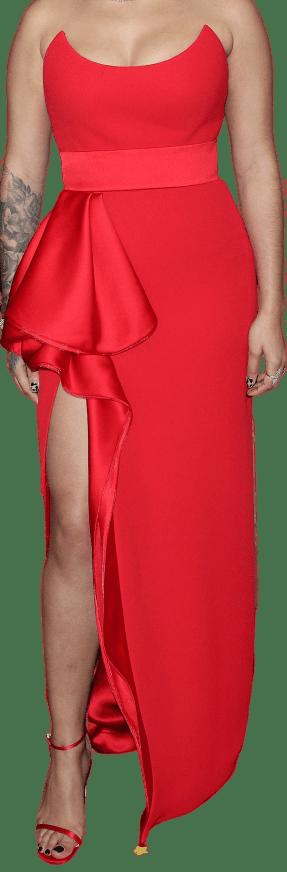 Red Custom Giorgio Armani Dress-Giorgio Armani