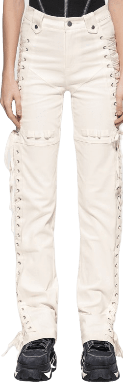 White Holly Pants - I AM GIA