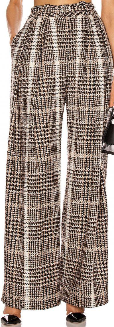 Black & Caramel Wide Leg Pant-Carmen March
