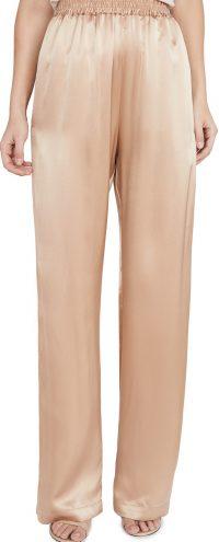 Caramel Penelope Silk Charmeuse Pants