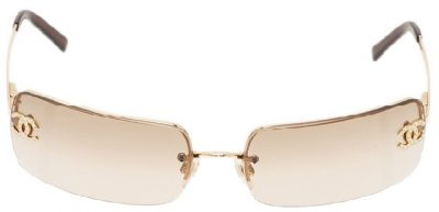 Gold 4104 CC Rimless Sunglasses