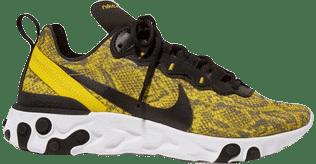 React Element 55 Snake-Print Mesh Sneakers-Nike