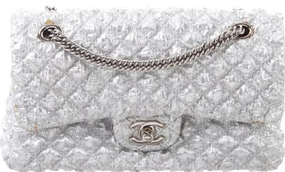 Silver Classic Small Double Flap Bag - Chanel