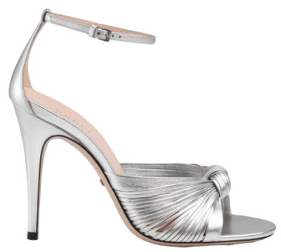 Silver Metallic Leather Sandal