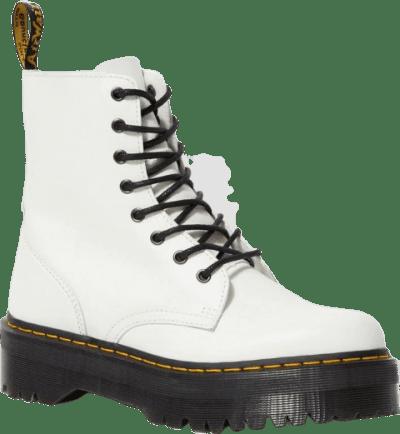 White Jadon Leather Boots-Dr. Martens