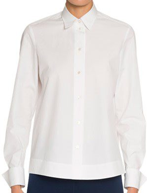 White Poplin Classic Shirt-Alaia