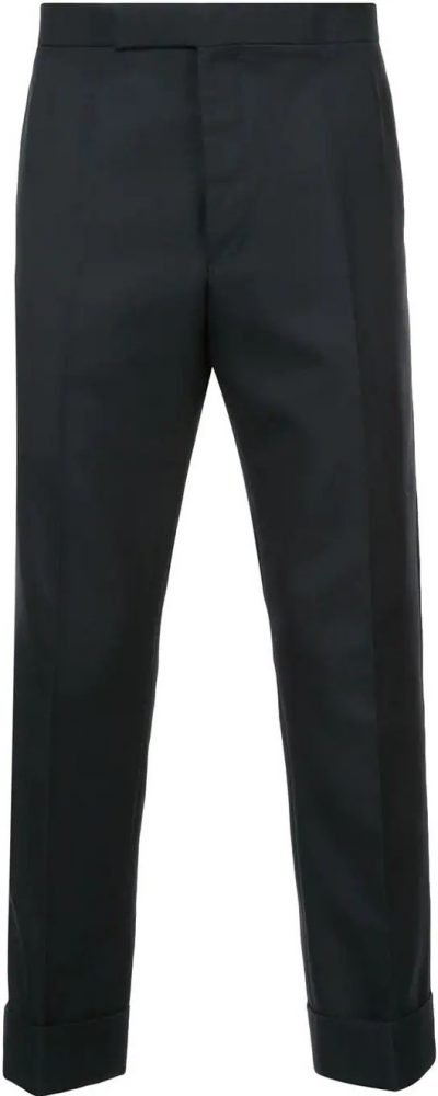 Wool-blend Tailored Trousers-Thom Browne
