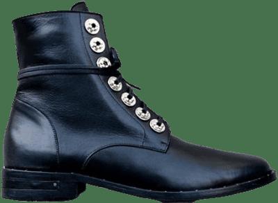 Black Calf Ralf Lace Up Boot-Freda Salvador