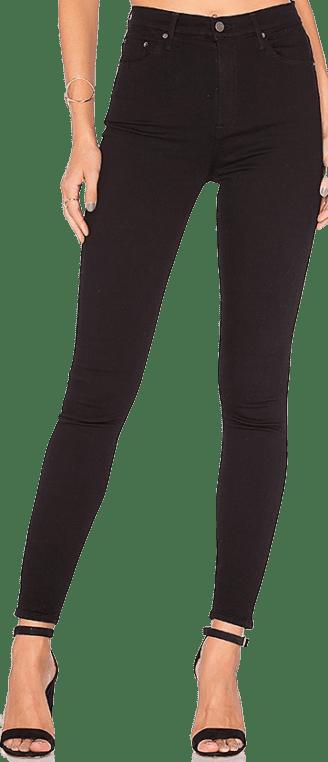 Black Kendall Super Stretch High-Rise Skinny Jean-GRLFRND