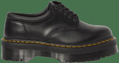 Black Leather Padded-Colar Platform
