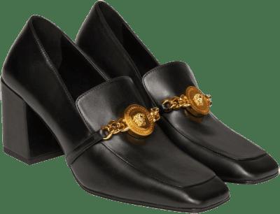 Black Medusa Chain Pumps-Versace