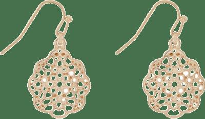 Gold Filigree Drop Earrings