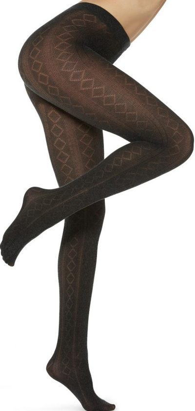 Grey Patterned Cashmere Tights-Calzedonia
