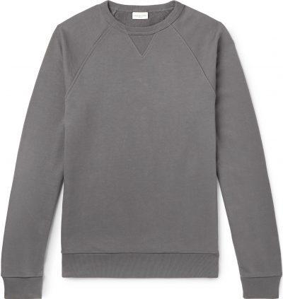 Loopback Cotton-Jersey Sweatshirt-Dries Van Noten
