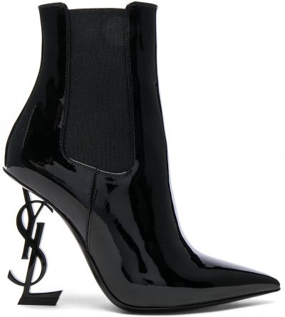 Patent Opium Mongramme Heeled Boots