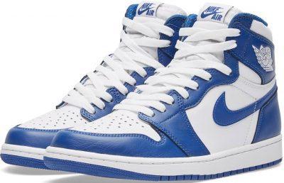 White & Storm Blue Air Jordan 1 Retro High OG-Nike