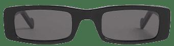 Black Trouble Rectangle Sunglasses