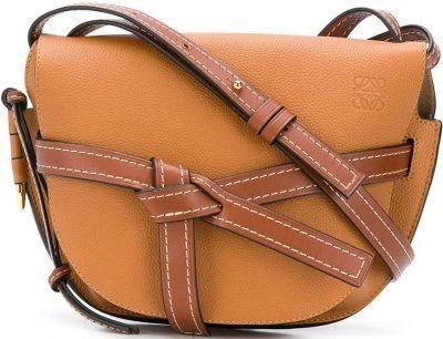 Brown Leather Gate Small Bag-Loewe